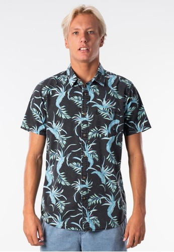 Rip Curl black Spacey Short Sleeve Shirt 68C55AA6873717GS_1