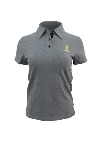 AMNIG AMNIG Women Essential Polo Tee (Grey/Yellow) 749BCAA8F77016GS_1