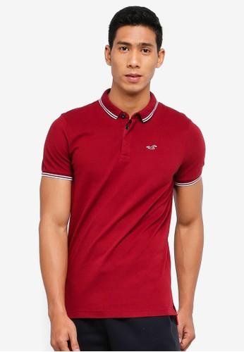Hollister red Modern Polo Shirt 1FD40AABA45544GS_1