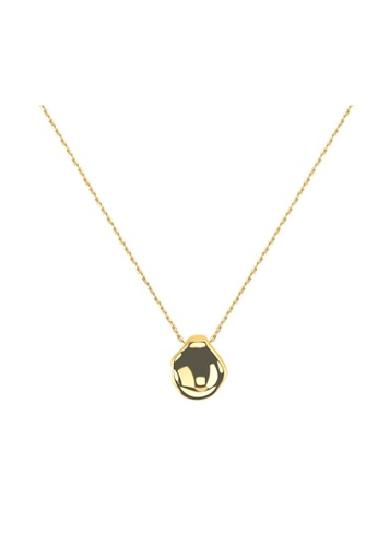 CINDERTOELLA gold Cindertoella Penelope Minimal Statement Necklace With Pendant 18K Gold Plated 316L Stainless Steel FEC0BACCD4DB15GS_1