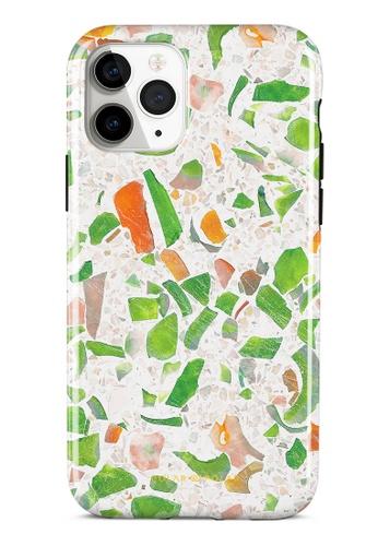 Polar Polar green Terrazzo Green Dual-Layer Tough Case Glossy For iPhone 11 Pro 7DF5FACB74546FGS_1
