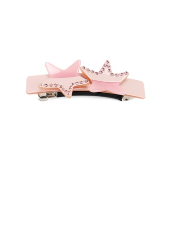 Glamorousky pink Fashion Creative Star Pink Hair Slide with Cubic Zirconia 2F0E0ACD9977D4GS_1