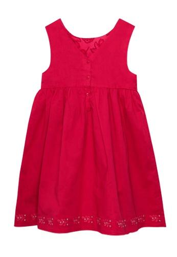 Du Pareil Au Même (DPAM) pink Sleeveless Embroidery Dress 8C700KA92D24FDGS_1