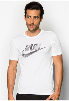 Printed Run Swoosh T-shirt