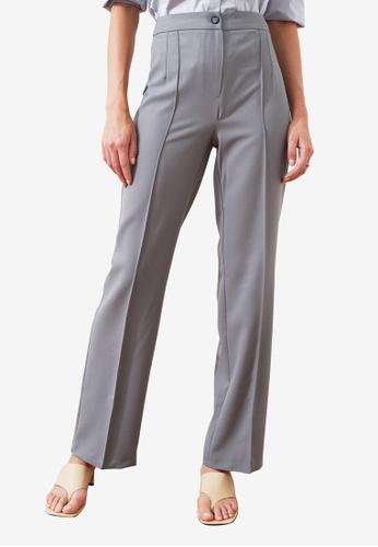 Trendyol green High Waist Straight Cut Trousers 49E84AA004BE6BGS_1