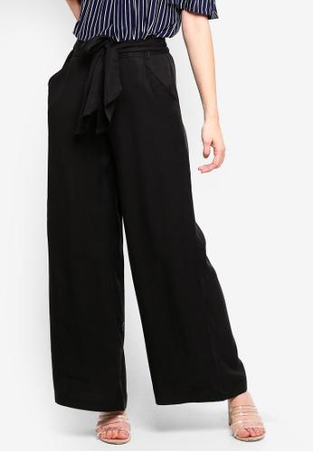 Max Studio black Woven Tencel Pants B5C88AA729D4AEGS_1