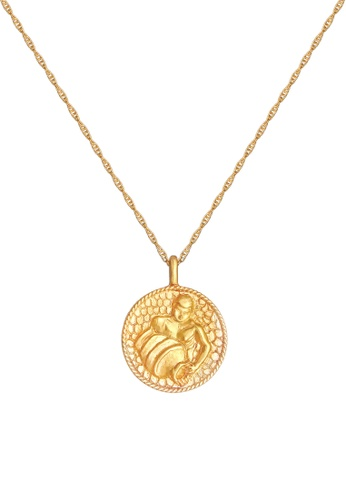 ELLI GERMANY gold Necklace Zodiac Sign Aquarius Coin Gold D579AAC8514ECFGS_1