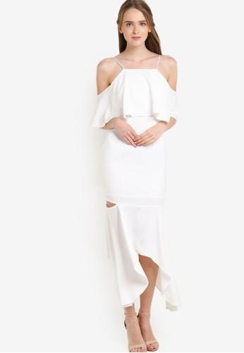 荷葉飾挖肩魚尾連身長裙, 服飾, 京站 esprit洋裝