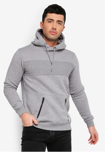 Brave Soul grey Crossover Neck Hoodie BD53EAA8618869GS_1