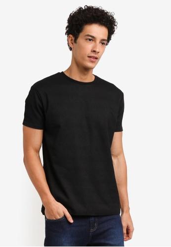 Penshoppe black Printed Relaxed Fit T-Shirt ADF4AAAFFADDEEGS_1