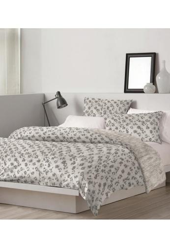 DKNY grey DKNY Leopard Grey Quilt Cover & Pillow Sham Set. DBACBHL4D878EBGS_1