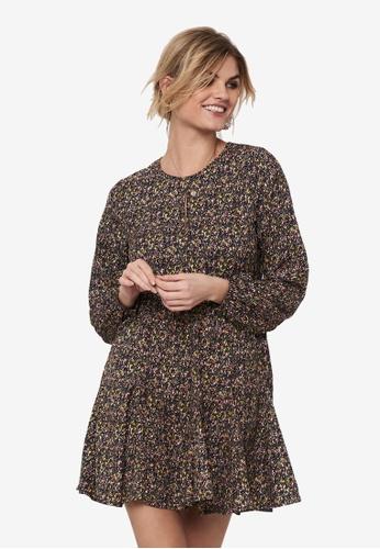 JACQUELINE DE YONG brown Mia Long Sleeves Short Dress 3BFCEAACE07830GS_1