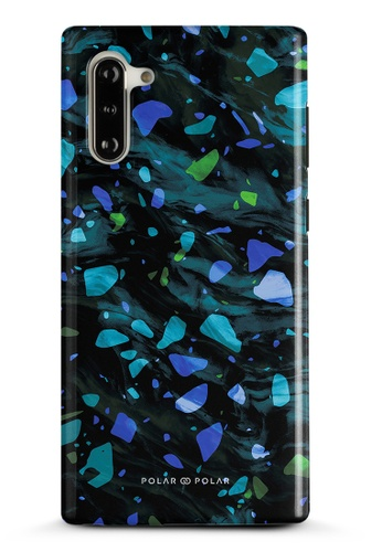 Polar Polar blue Ocean Terrazzo Gem Dual-Layer Tough Case Glossy For Samsung Galaxy Note10 A4FF2AC40D4FB5GS_1