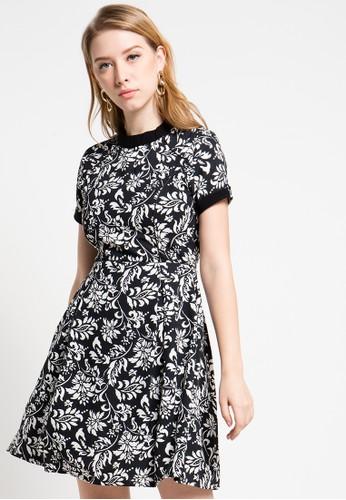 FAME black Printed Dress FA157AA56YLJID_1