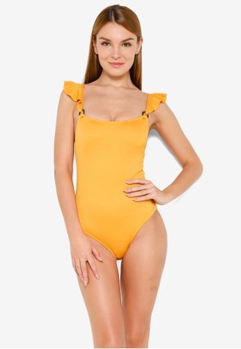 LC Waikiki yellow Ruffle Detailed Swimsuit 04B29US0E19182GS_1