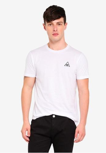 Brave Soul white Crew Neck T-Shirt DEF97AA60076E6GS_1