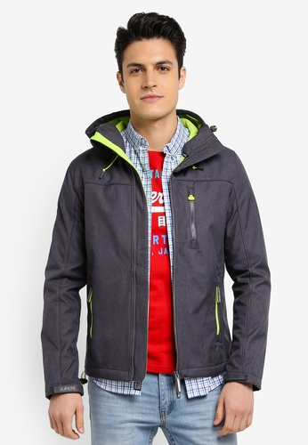 Superdry grey HOODED WINDTREKKER C6A5CAAC0975CFGS_1