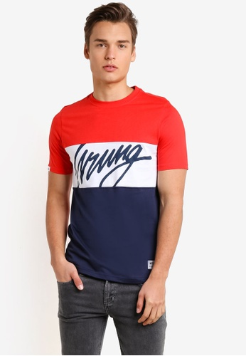 Wrung red Flow T-Shirt WR395AA90MPLMY_1
