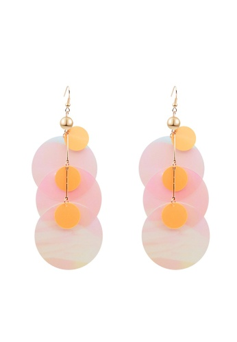Mellow pink Psychedelic Earrings 2D57FAC856C9C9GS_1