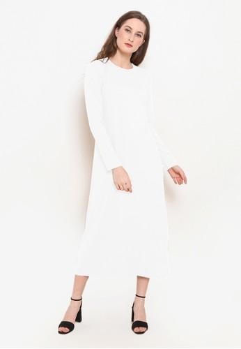 BASIC ONE white Basic One Jeddah Long Dress Jade White 8E7F1AA86909A6GS_1