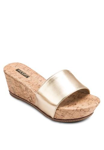 Islands 一字寬帶厚底楔型鞋、 女鞋、 鞋ALDOIslands一字寬帶厚底楔型鞋最新折價