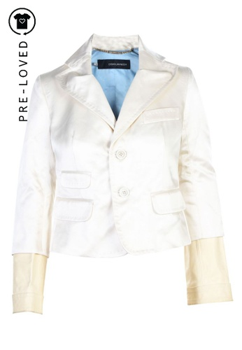 Dsquared2 beige Pre-Loved dsquared2 Cream Jacket 69DB1AAF7B6E42GS_1