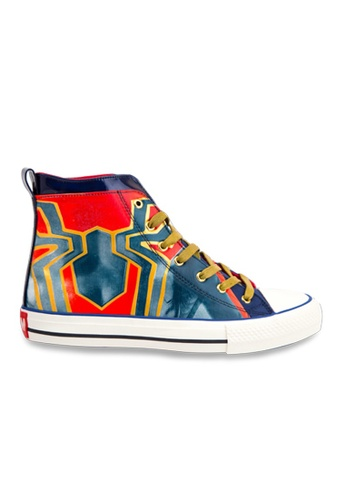 MARVEL navy Marvel Infinity SpiderMan High Top Fashion Canvas Shoe 4AE81KSF7AD431GS_1