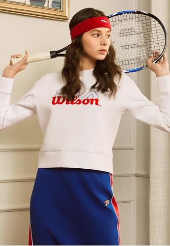 FILA white FILA x Wilson Logo Sweatshirts C6352AA6E2092DGS_1