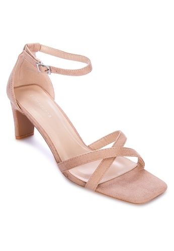 Primadonna beige Strappy Heels 44B20SH3DC14C7GS_1