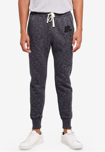 Hollister black Super Skinny Embroidery Sweatpants 1AB87AAFE66006GS_1
