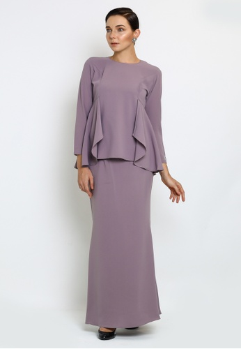 Jane-Kurung Modern style with drape detail from OWLBYND in Purple
