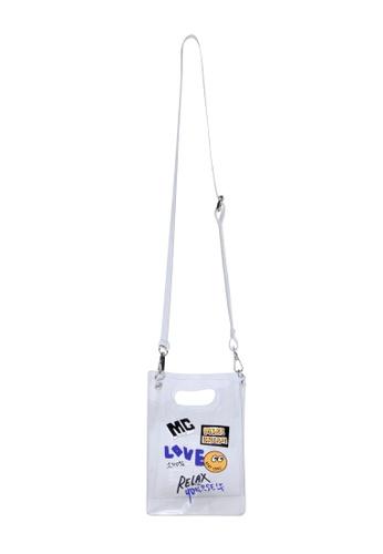 Mini cream white Graphic cross body mini bag 80B54ACE075ED3GS_1