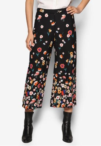 花卉印花九分寬管褲、 服飾、 長褲及內搭褲DorothyPerkins花卉印花九分寬管褲最新折價