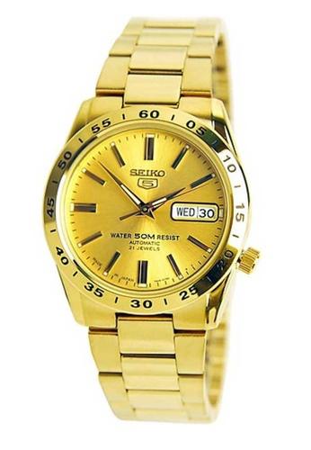 Seiko gold Seiko 5 Gold Stainless Steel Watch 0FAC3ACAB30639GS_1