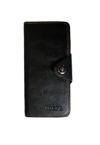 Lucky JX black Arvin Bi-Fold Leather Long Wallet D22CBAC2E9DACFGS_1