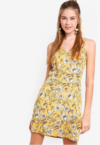 Something Borrowed yellow Camisole Dress 7349CAA8C08DCEGS_1