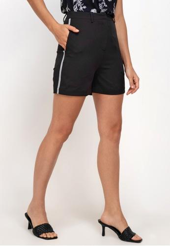 ZALORA WORK black Shorts With Trim 0E059AAB1B8FD6GS_1