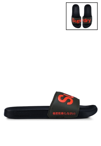 Superdry black and multi Superdry Pool Slides 12588SH0749191GS_1
