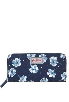 87963eda2237 Cath Kidston navy Fairfield Flowers Travel Continental Wallet  43F9EACC91FE58GS 1