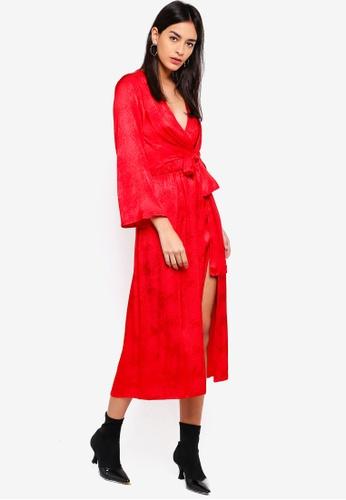 44f227fe2f29 Buy TOPSHOP Snake Jacquard Knot Midi Dress Online