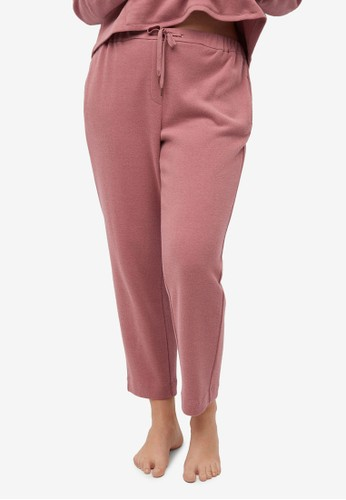Violeta by MANGO pink Plus Size Cotton Trousers ECD52AAEE70DABGS_1