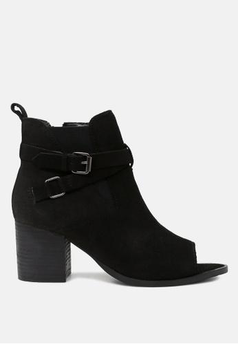 RAG & CO 黑色 鱼嘴及踝短靴 17068SHEFFC376GS_1