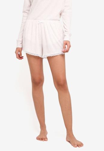 Cotton On Body beige Rib Lace Shorts BB21AAA5E11457GS_1