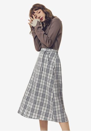 great deals order discount sale Stylishly Smart Plaid Midi Skirt