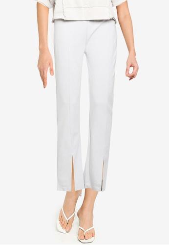 JEANASIS white Splice Hem Pants 50EA0AA4EFD913GS_1