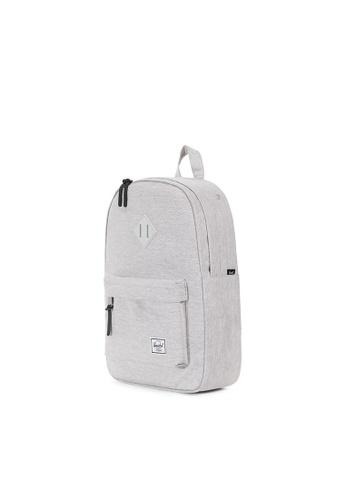 e7ba0eb05a Buy Herschel Herschel Heritage M Backpack (Light Grey X Grey Rubber) - 14.5L  Online