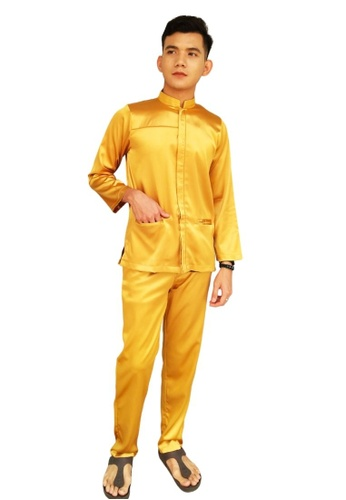 Denai Boutique yellow Baju Melayu Najmi 7AE5FAABE902A1GS_1