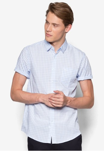 esprit hkClassic Casual Short Sleeves Shirt, 服飾, 印花襯衫