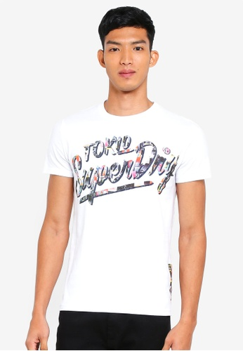 Superdry white Ticket Type Tee 73D35AA2D0AF61GS_1