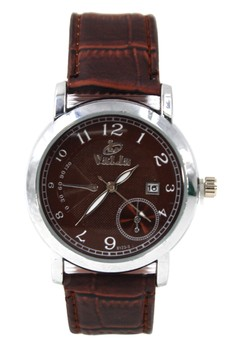 Valia Clarence Leather Strap Watch 8123-3